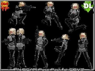 [MMD] FN SCAR Rifle Pose Pack for C3V3