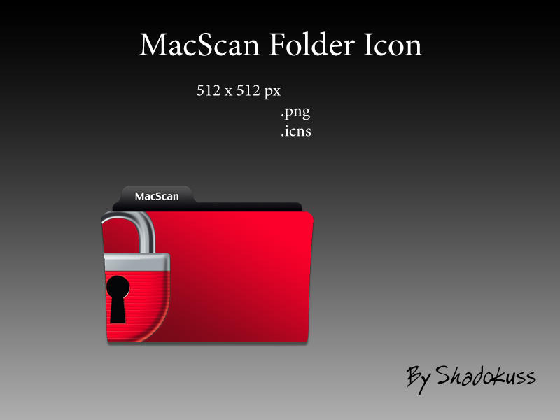 MacScan Folder Icon by shadokuss
