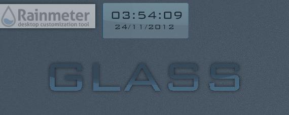 Glass (Clock/Date for Rainmeter) by v1k0s
