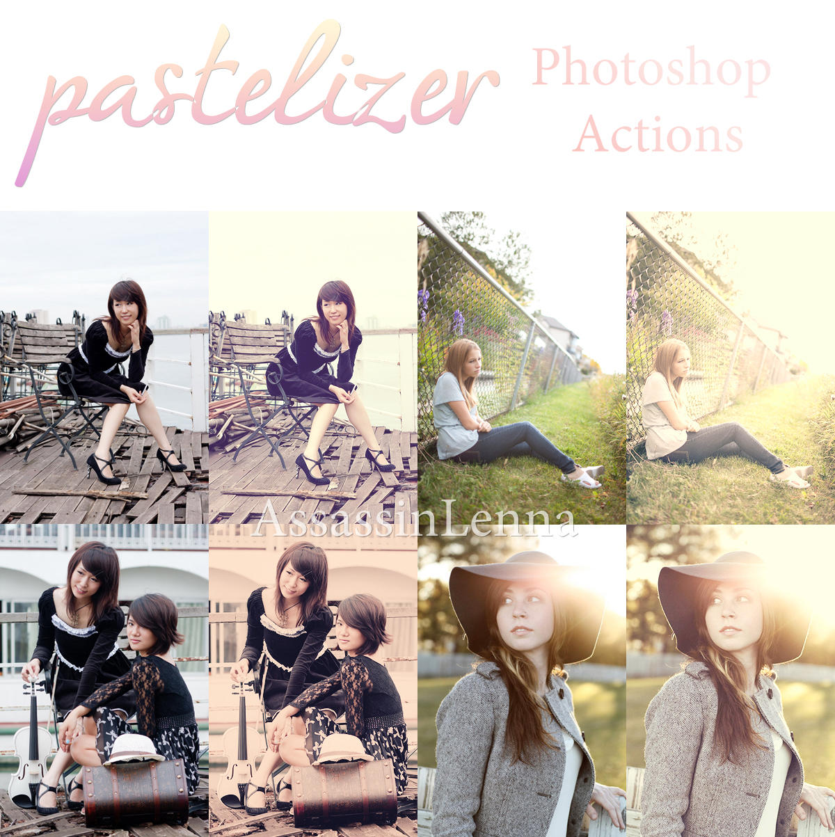 Pastelizer Photoshop Actions by AssassinLenna