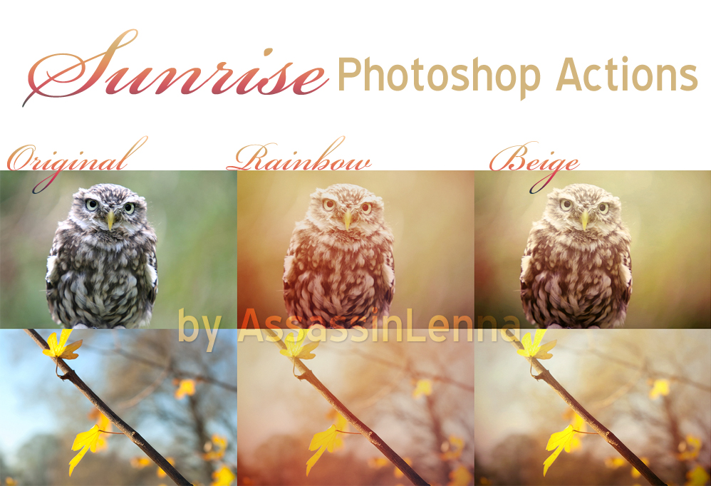 Sunrise Photoshop Actions