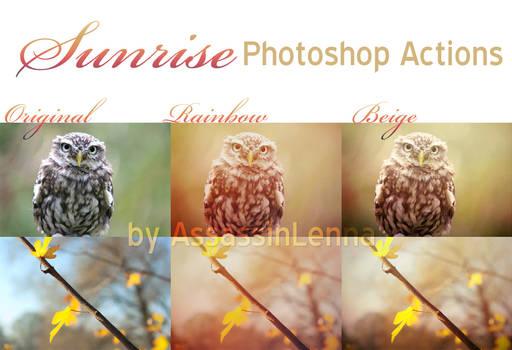 Sunrise Photoshop Actions