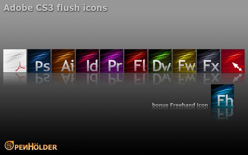 Adobe CS3 Flush Icons by thePenHolder