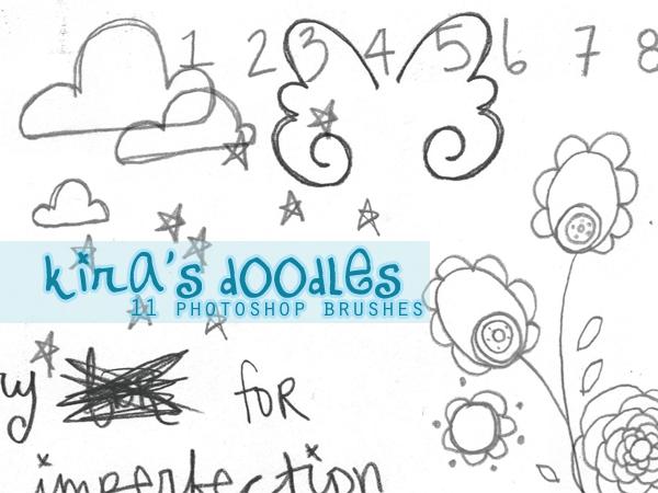 Kira's Doodles PS Brush Set by samanthakira