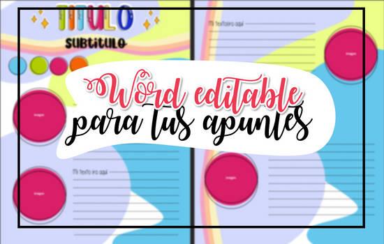 PLantilla 5- WORD EDITABLE PARA TUS APUNTES