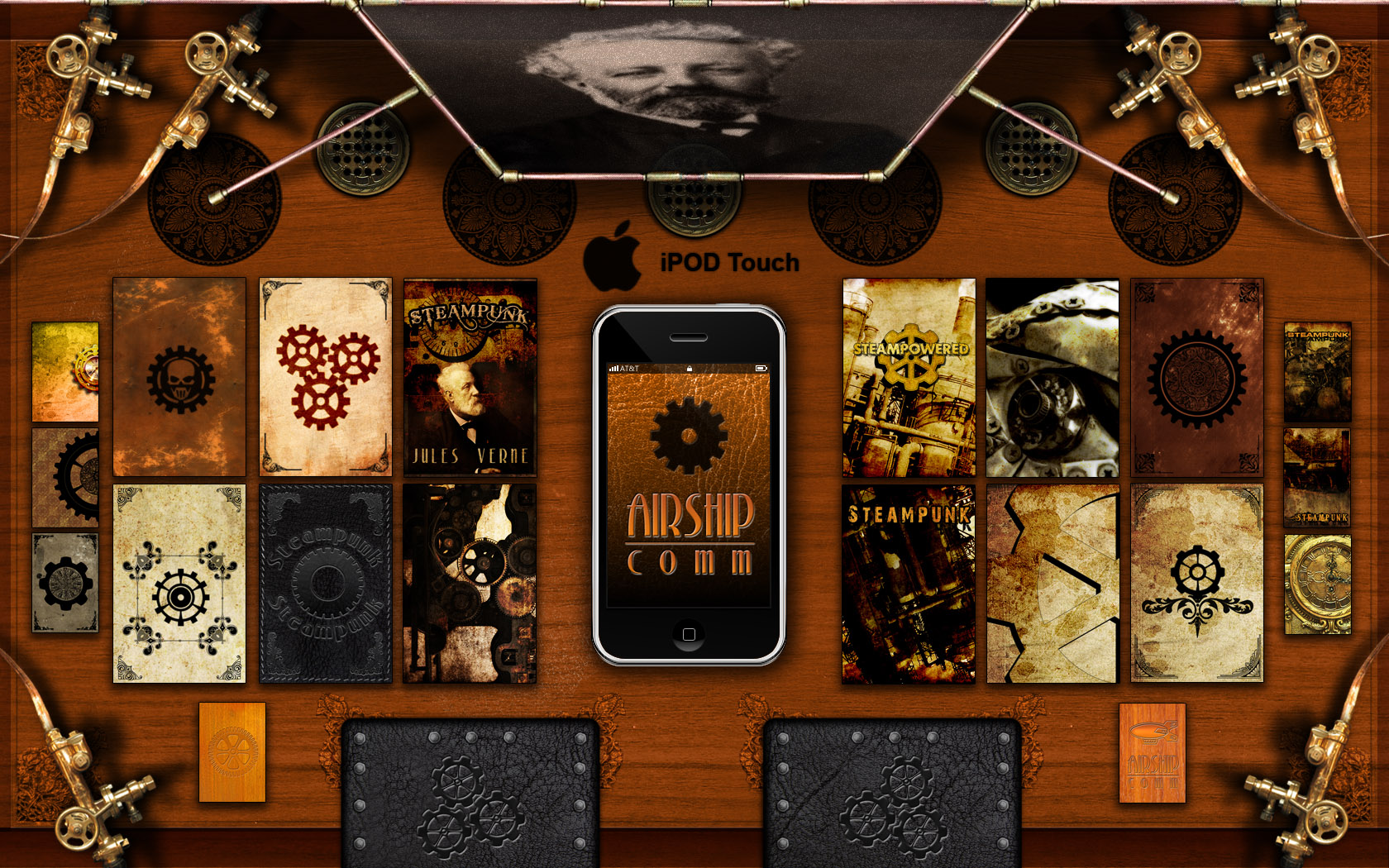 Steampunk Theme Ipod Touch By Inception8 On Deviantart