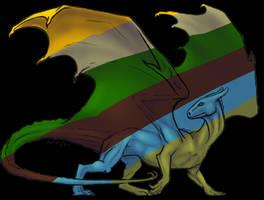 Pern Dragon Template by splatthecat