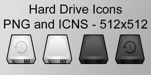 Slick Hard Drive Icons