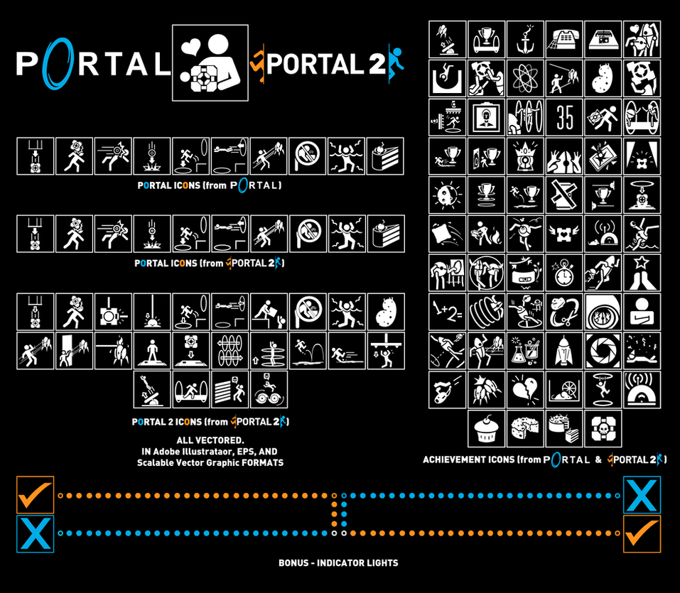 Vectored portal icons by zeptozephyr on deviantart for Z portal