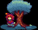 Aglae and a tree