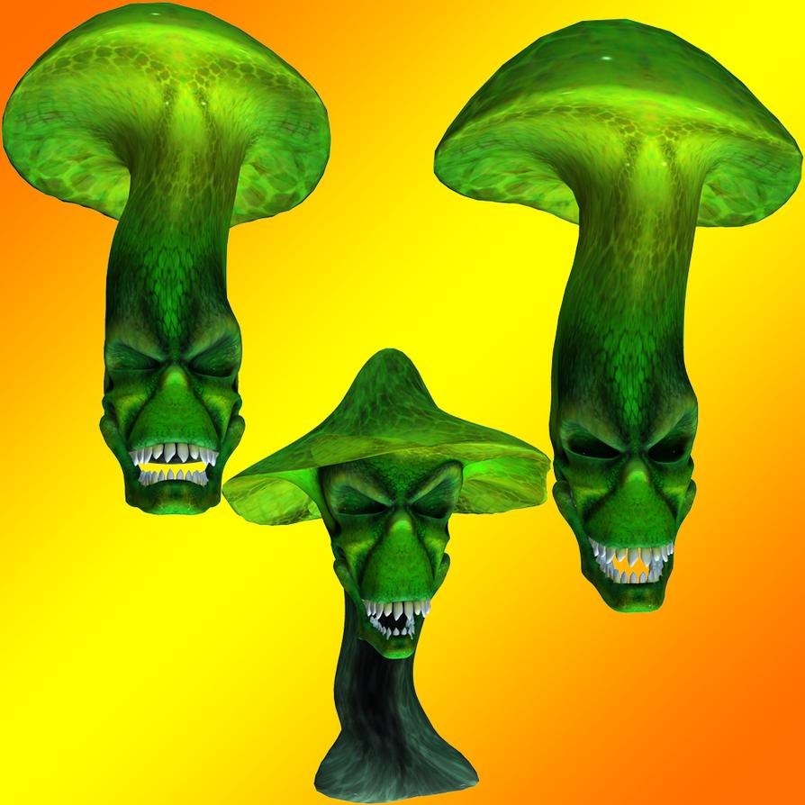 Mushroom Skullz by Stock-by-Dana