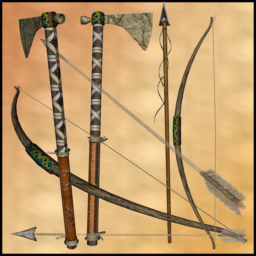 native american weapons by stockbydana on deviantart