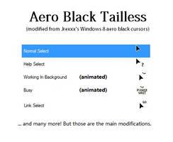Aero Black Tailless Mouse Cursors