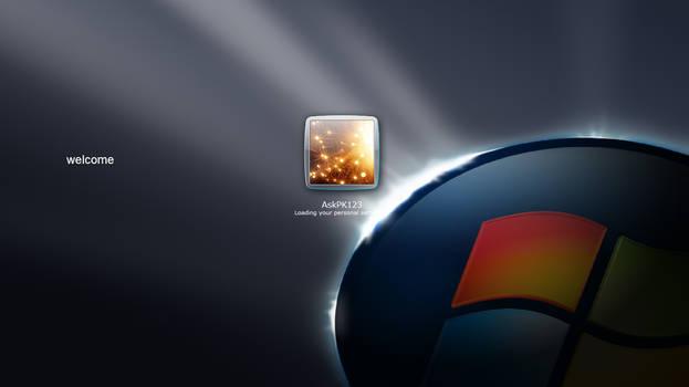 Windows XP Dark Edition V6 PowerPack Login Screen