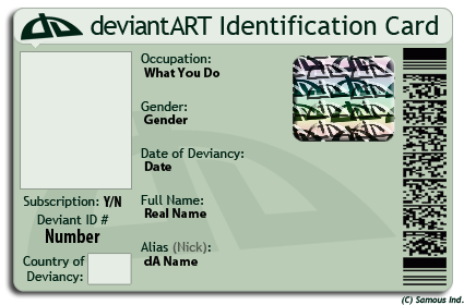 By Samouswebmaster New Id Deviantart Inc On Da Template Card