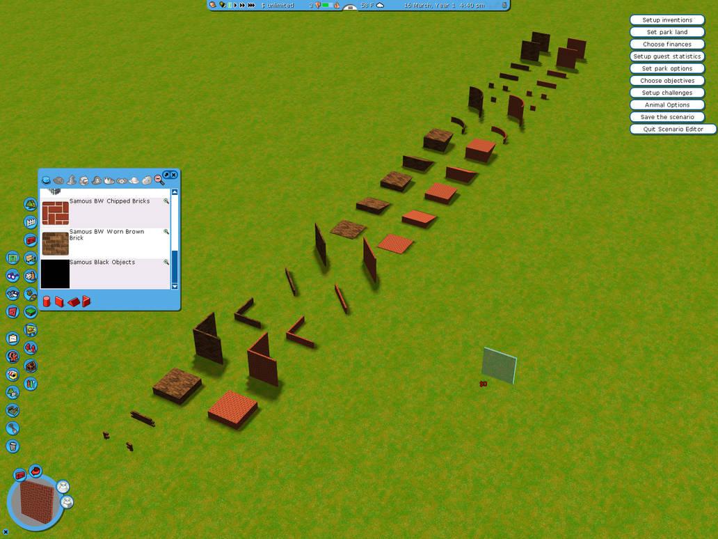 BETA Basic Wall Set for RCT3 by SamousWebmaster on DeviantArt