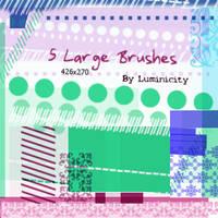 5 Large brushes
