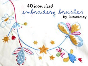 Embroidery brushes