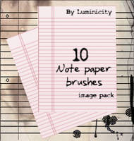 Note paper brushes by luminicity