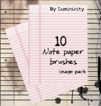 Note paper brushes