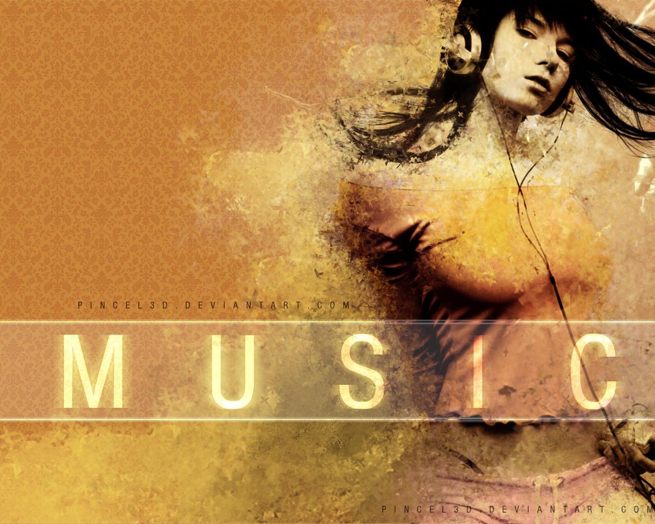 Music Girl by pincel3d