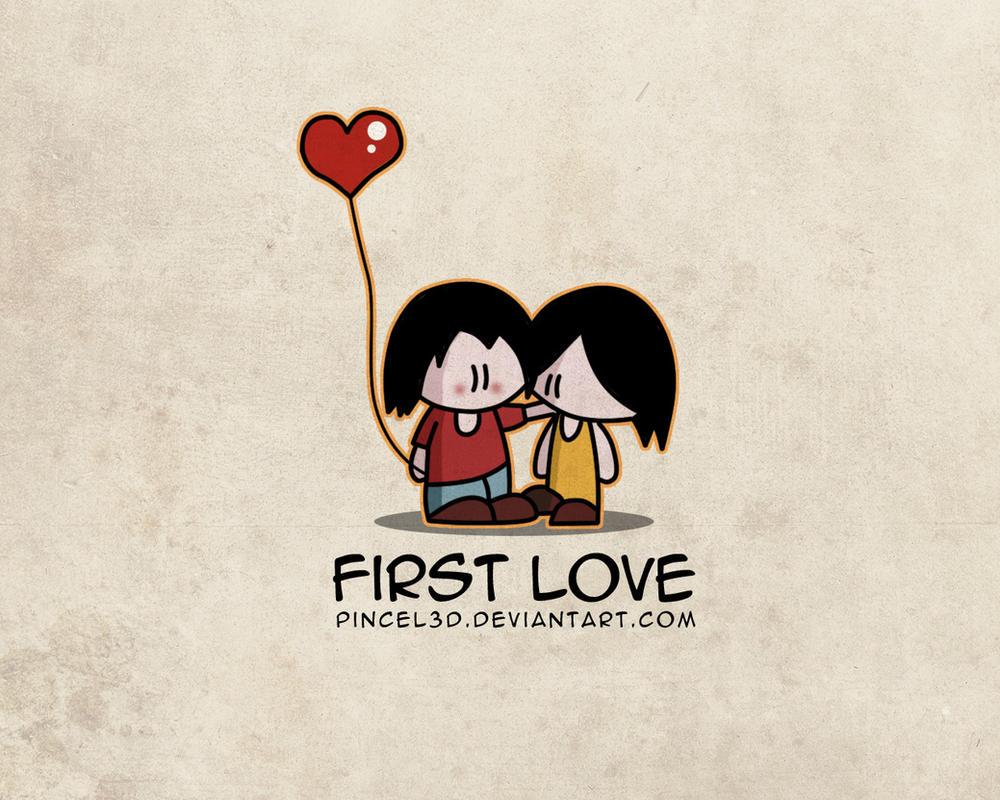 First love - Wallpaper by pincel3d