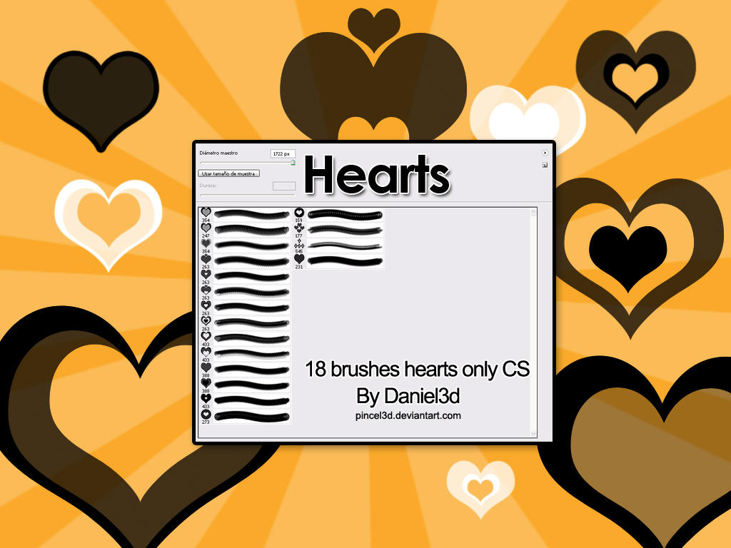 Hearts Brushes by pincel3d