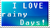 Rainy Days Stamps by Pooky-Stamps