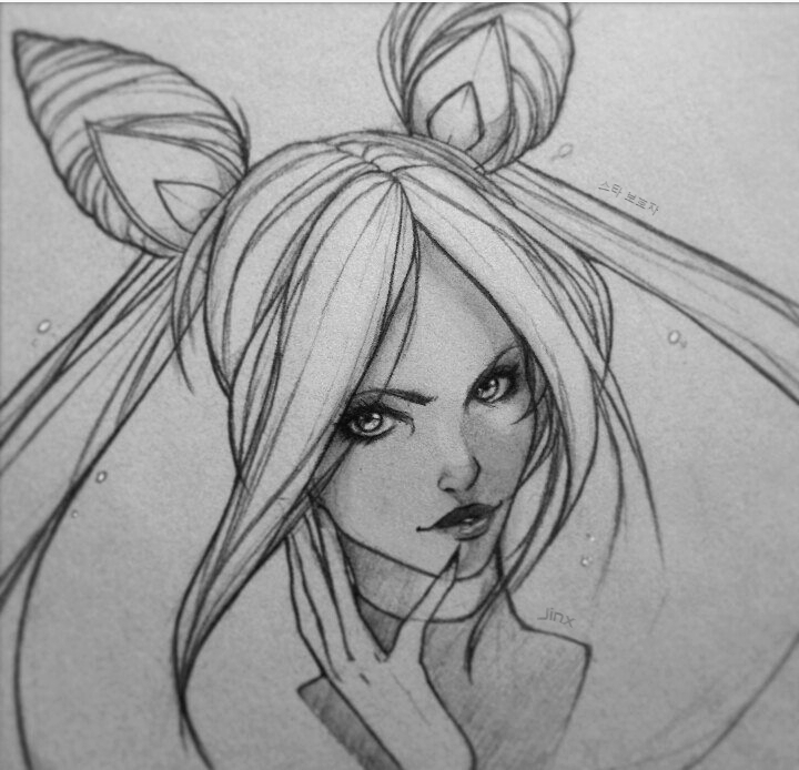 Star guardian Jinx sketch by Idrilen