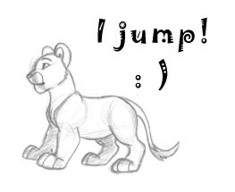 Jumping Lion by DolphyDolphiana