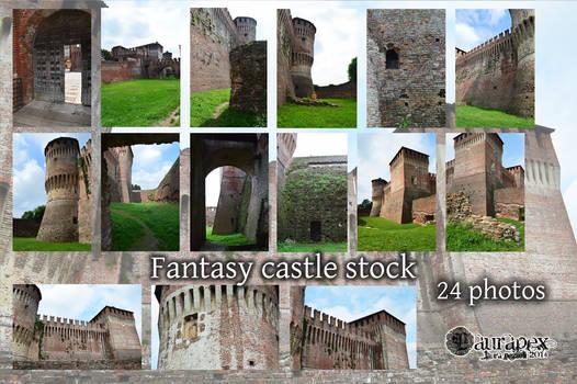 Fantasy castle stock
