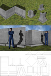 Futuristic Barrier Set 1 for DAZ Studio