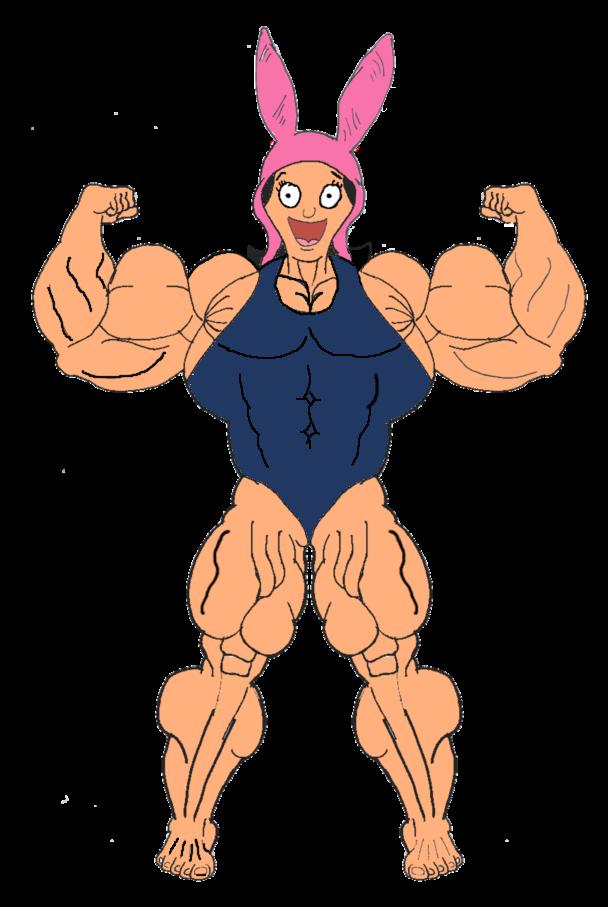 Muscle Louise Belcher (swimsuit) by TheFranksterChannel