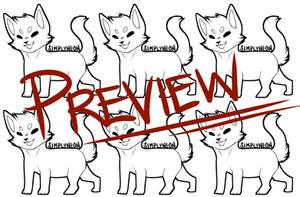 Chibi Cat Lineart (P2U)