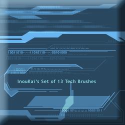 IK Set of 13 Tech Brushes by InouKai