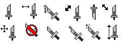 Buster Sword: Project- Cursors by Phinix88