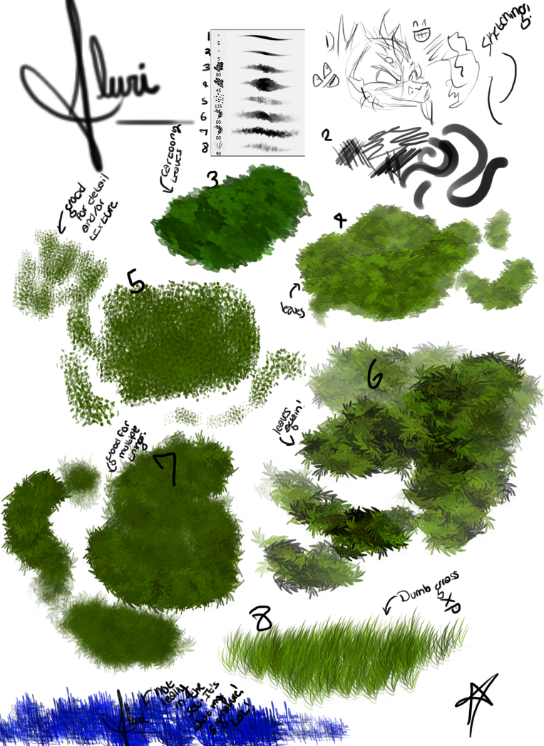 My Foliage Brushes by Flurious