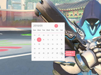Simple Calendar Widget for RainWidget by RainySoft
