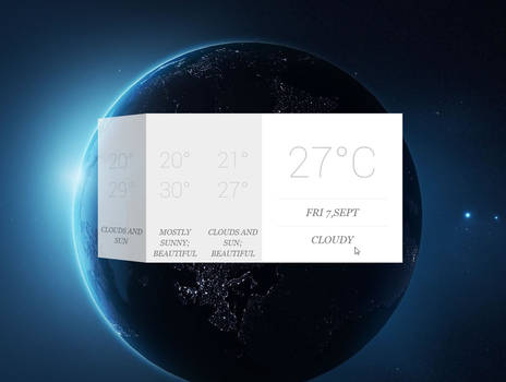 3D Animation Card  Weather with 4 days forecast by RainySoft