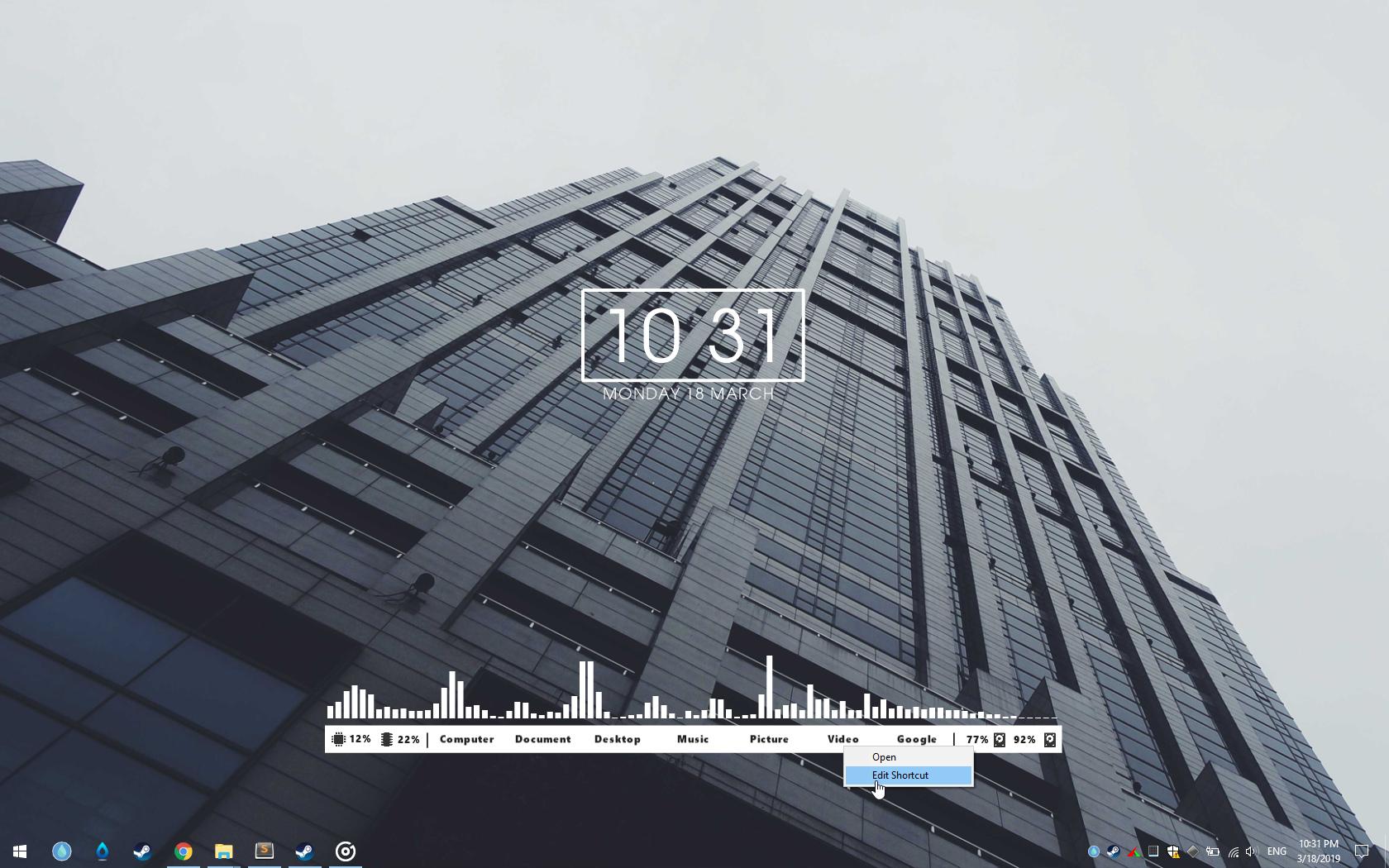 FLHUD for RainDesktop