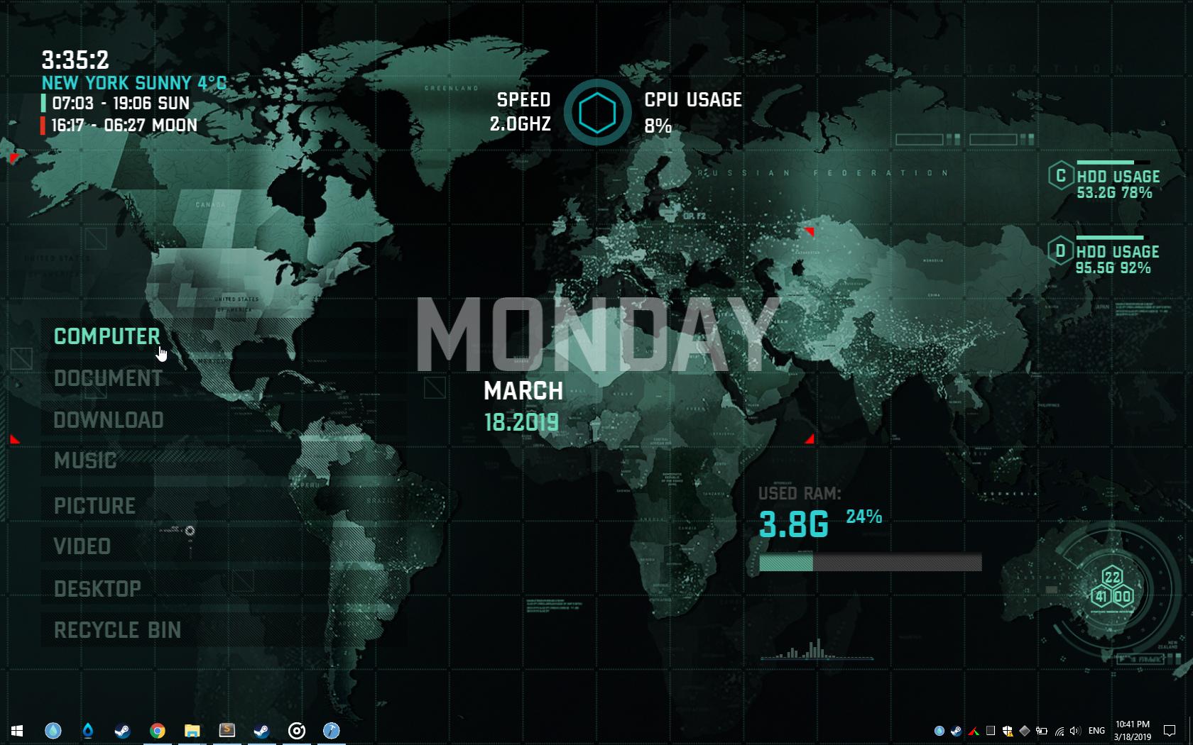Strategic Mission Suite for RainDesktop