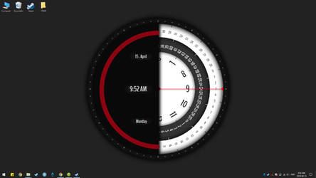 Super Rotation Clock live wallpaper(Animate)