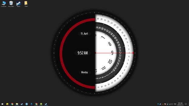 Super Rotation Clock live wallpaper(Animate)