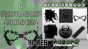 HAZARD --6 Photoshop brushes--