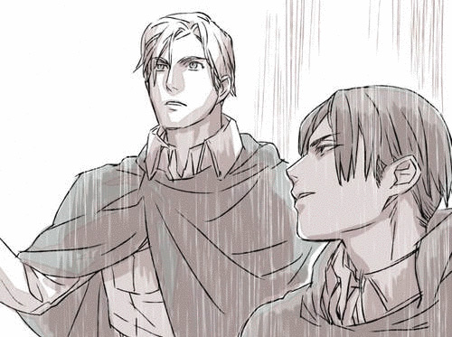 Droplets erwin x reader attack on titan by sky midnight on