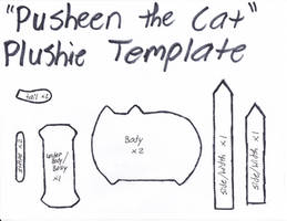 Pusheen The Cat Template by GrnMarco