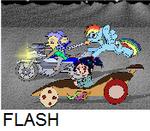 SUGAR RUSH Vanellope Vs Rainbow Dash Vs STAR CINDY by jaycebrasil