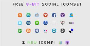 8-Bit Social Media Icons