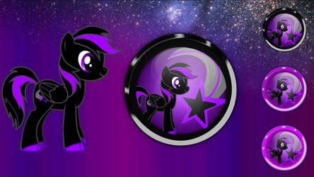 Blackstar icon orb and start orb