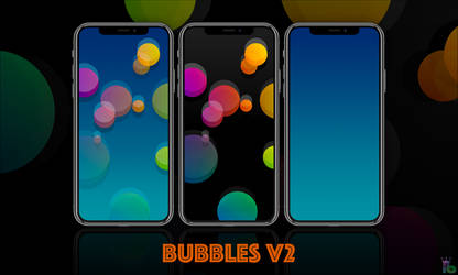 Bubbles V2 iPhone X by iBidule